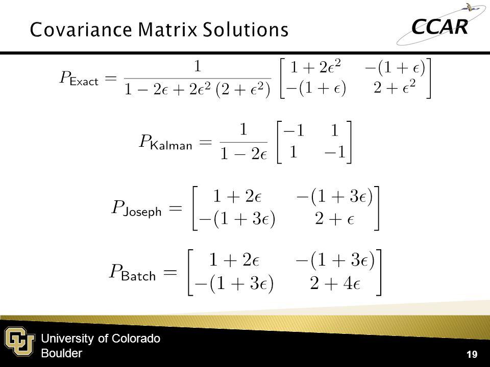 University of Colorado Boulder 19