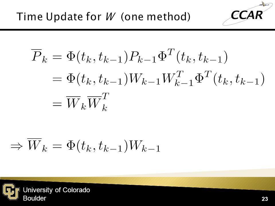 University of Colorado Boulder 23