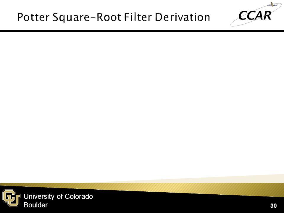 University of Colorado Boulder 30