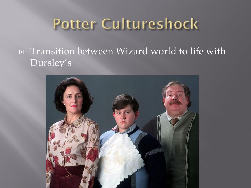  Transition between Wizard world to life with Dursley's