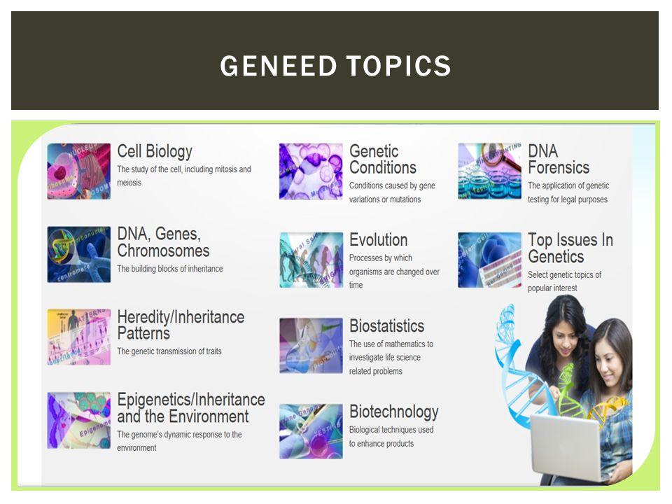 GENEED TOPICS