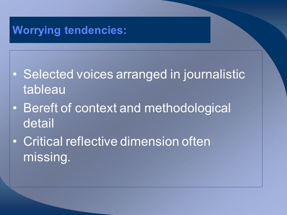 Growing presence but undertheorised The qualitative interview has a growing presence in applied linguistics.