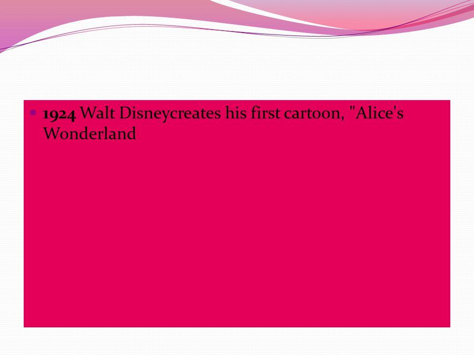 1924 Walt Disneycreates his first cartoon,