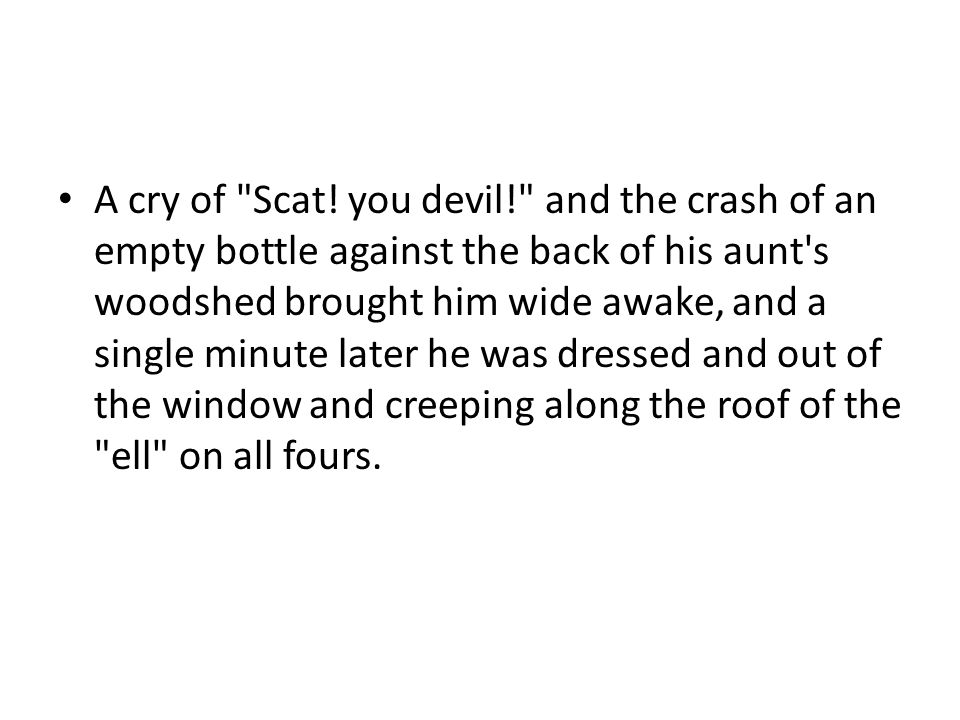 A cry of Scat.