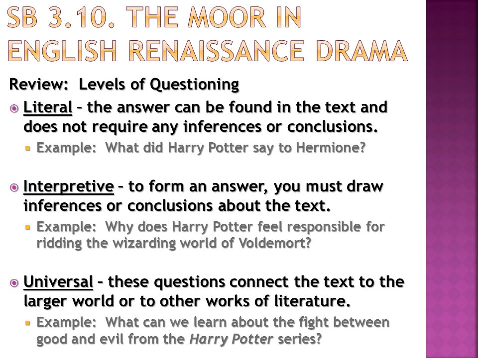 Chunk 1: Paragraphs 1-3 (15 minutes)  Scan paragraphs 1-3 and highlight the words Moor or Morocco.  Reread the paragraphs.