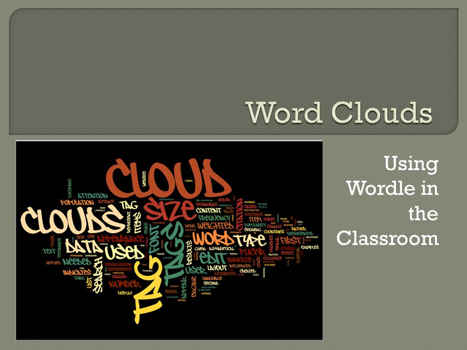  Wordle is a free word art tool that crunches any chunk of text in the production of a visual representation of the content.