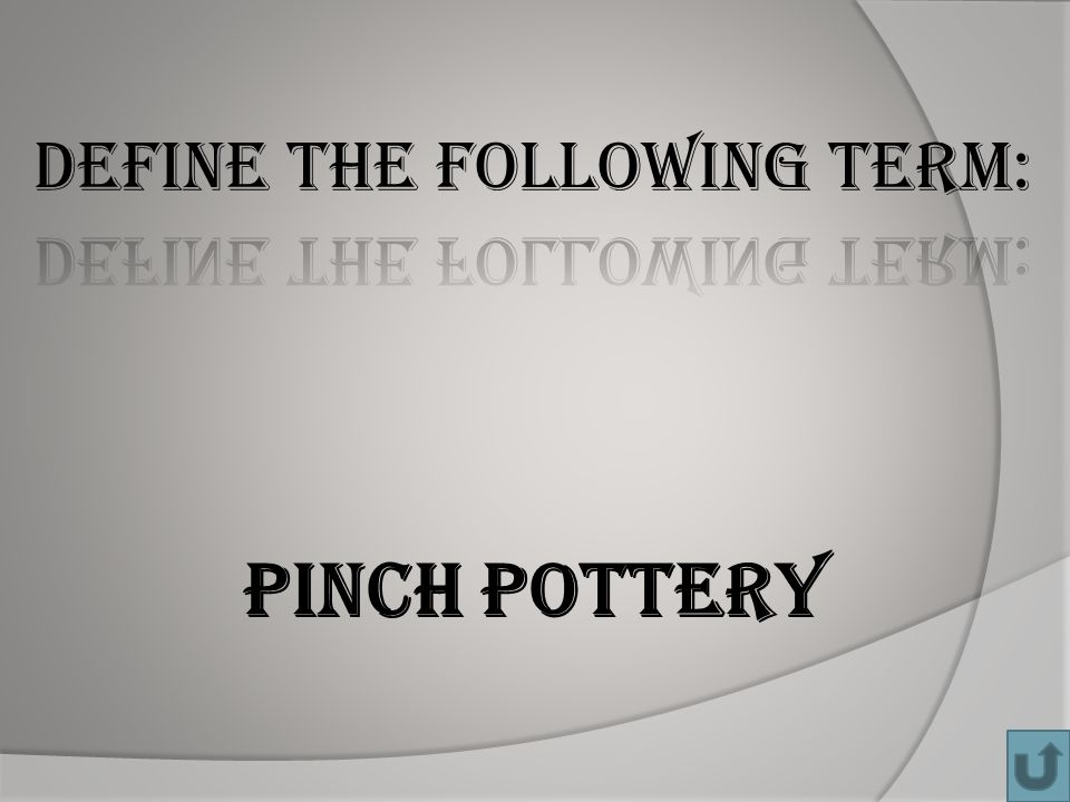 Pinch pottery