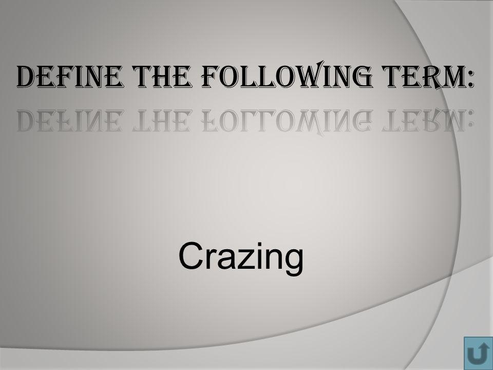 Crazing