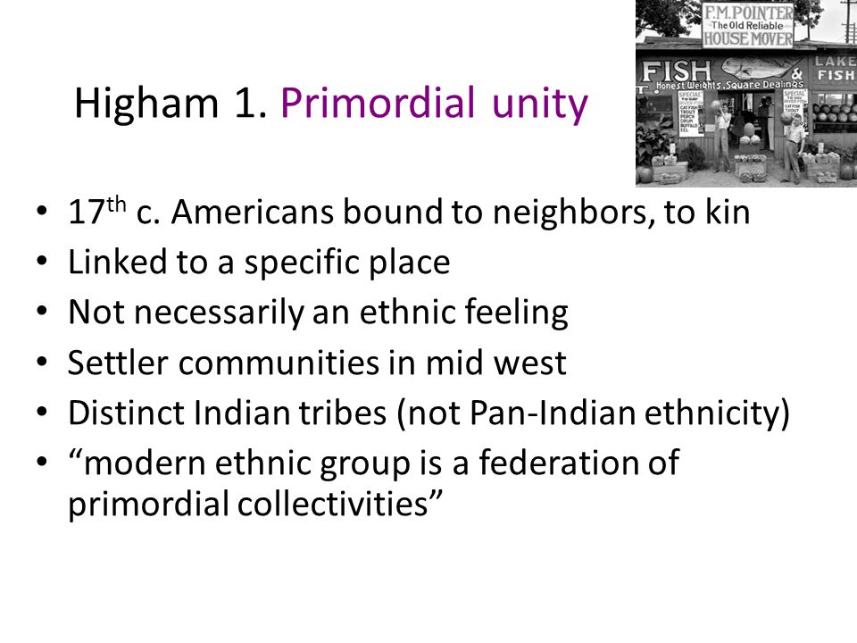 """John Higham, """"Hanging Together"""" 1974 American Historical Association presidential address Against backdrop of shift to micro-histories (ethnic-labor-w"""