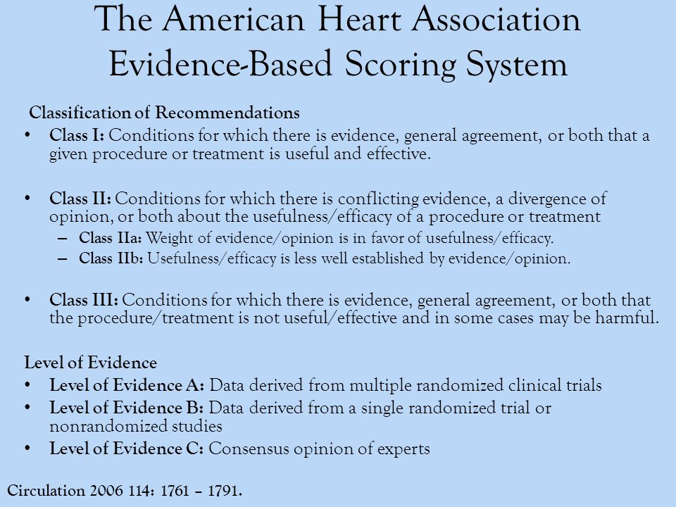Fliesher et al, ACC/AHA 2007 Guidelines on Perioperative Cardiovascular Evaluation and Care for Noncardiac Surgery. Circulation.