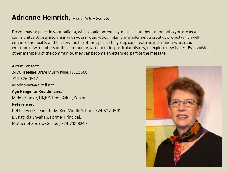 Ann Van Kuren, Dance – Choreographer B.A.Dance/Mathematics, Butler University; M.A.