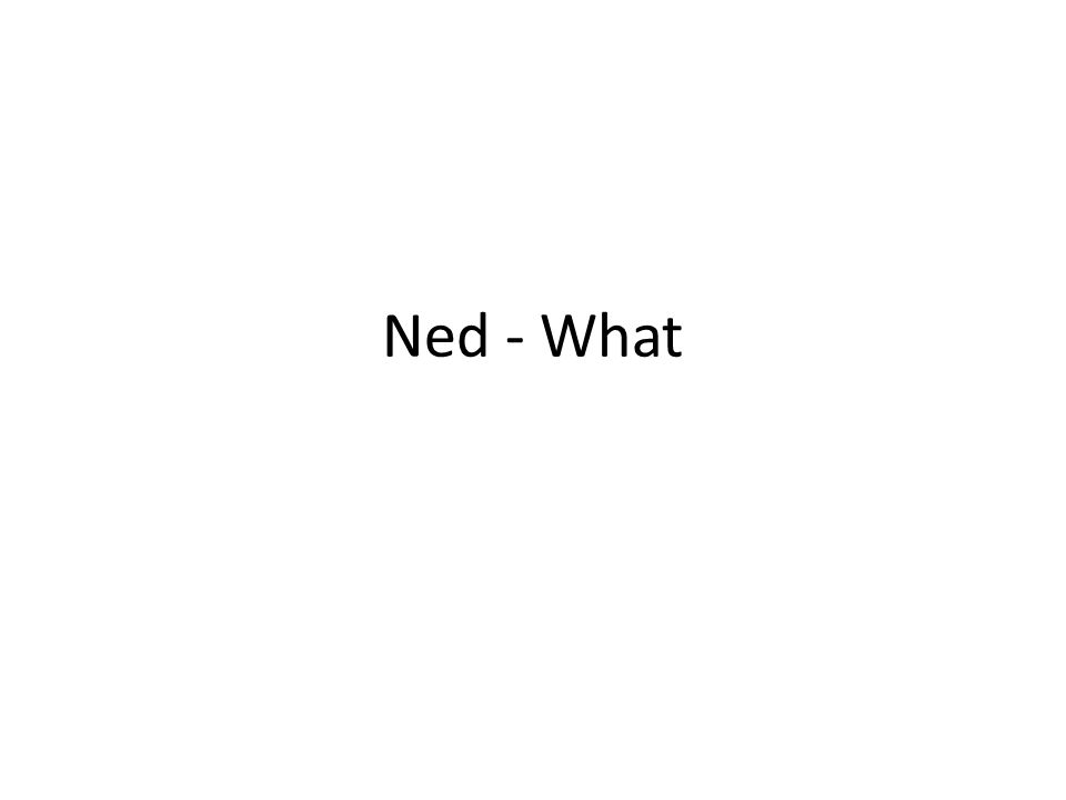 Ned - What