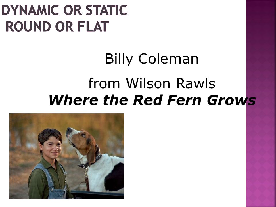 Billy Coleman from Wilson Rawls Where the Red Fern Grows