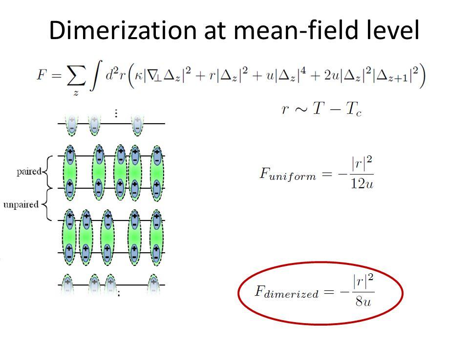 Dimerization at mean-field level z z+1