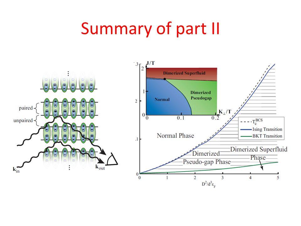 Summary of part II
