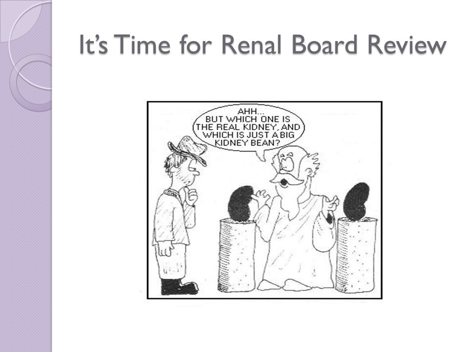 It's Time for Renal Board Review