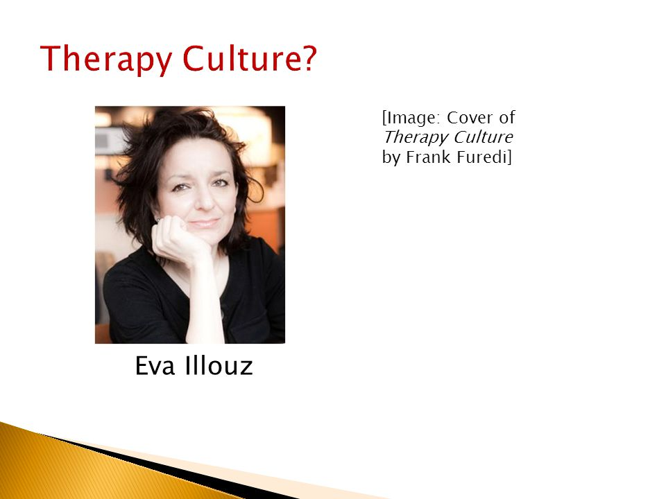 Eva Illouz [Image: Cover of Therapy Culture by Frank Furedi]