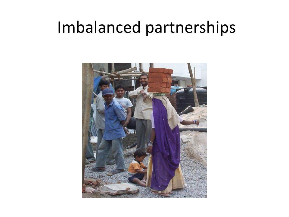 Imbalanced partnerships