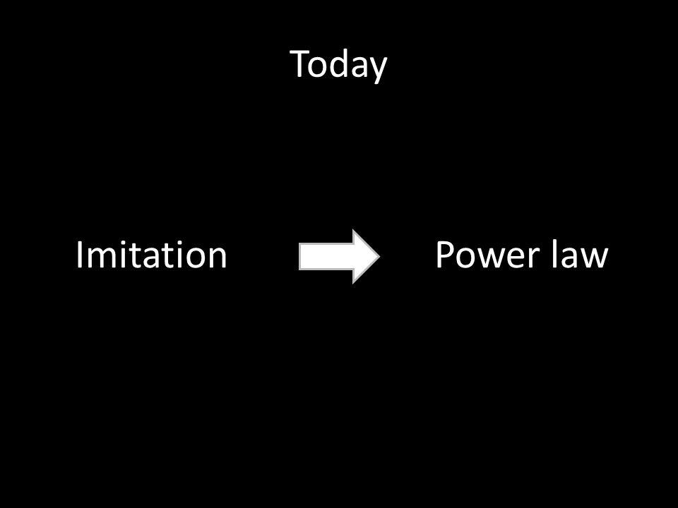 Today ImitationPower law