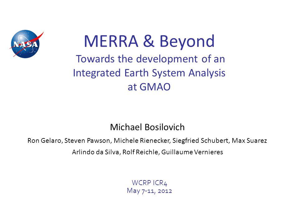 WCRP ICR4 7-11 May 2012 12 http://gmao.gsfc.nasa.gov/ref/merra/atlas/ Precipitation Comparisons from MERRA Atlas Annual mean (1990-2002) differences from GPCP
