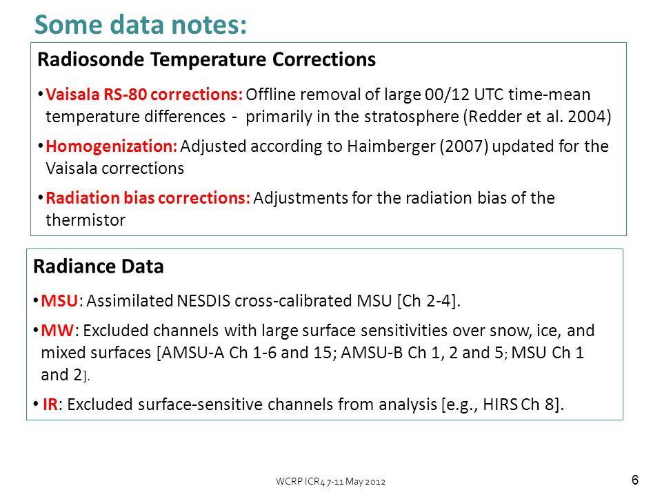 7 ERA-Interim Dee & Uppala 2009 Variational Bias estimates for MSU Channel 2 MERRA system used intercalibrated data from NESDIS (SNO matchups, Zou et al.
