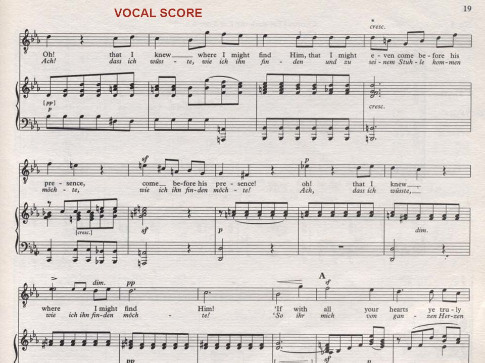 CHORAL SCORE