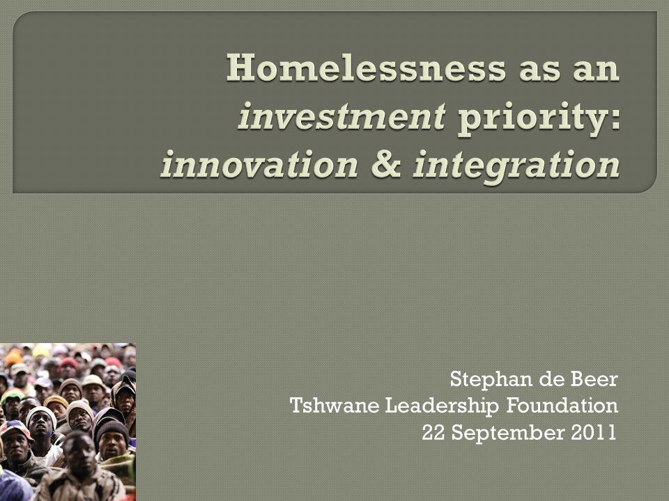 Stephan de Beer Tshwane Leadership Foundation 22 September 2011