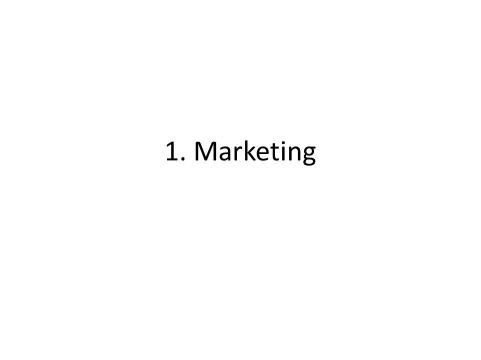 1. Marketing