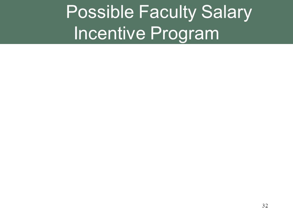 Possible Faculty Salary Incentive Program 32