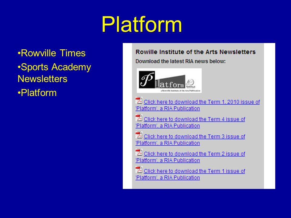 Platform Rowville Times Sports Academy Newsletters Platform