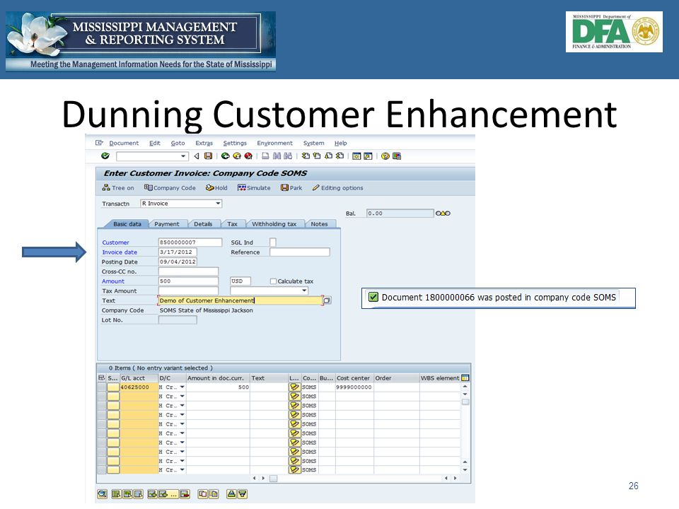 Dunning Customer Enhancement 26