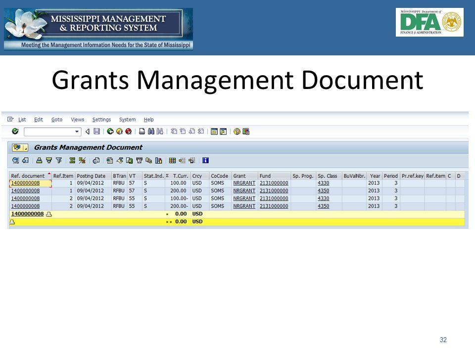 Grants Management Document 32
