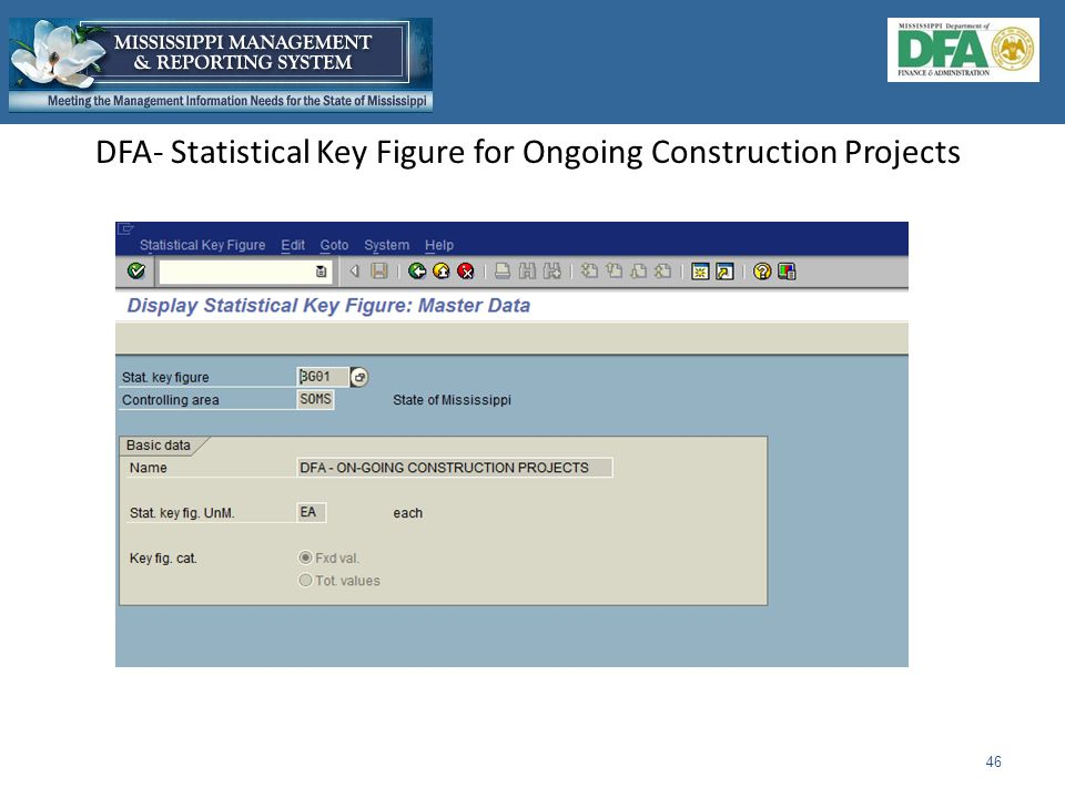DFA- Statistical Key Figure for Ongoing Construction Projects 46