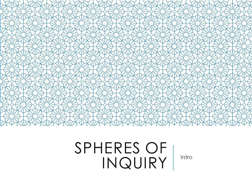 SPHERES OF INQUIRY Intro