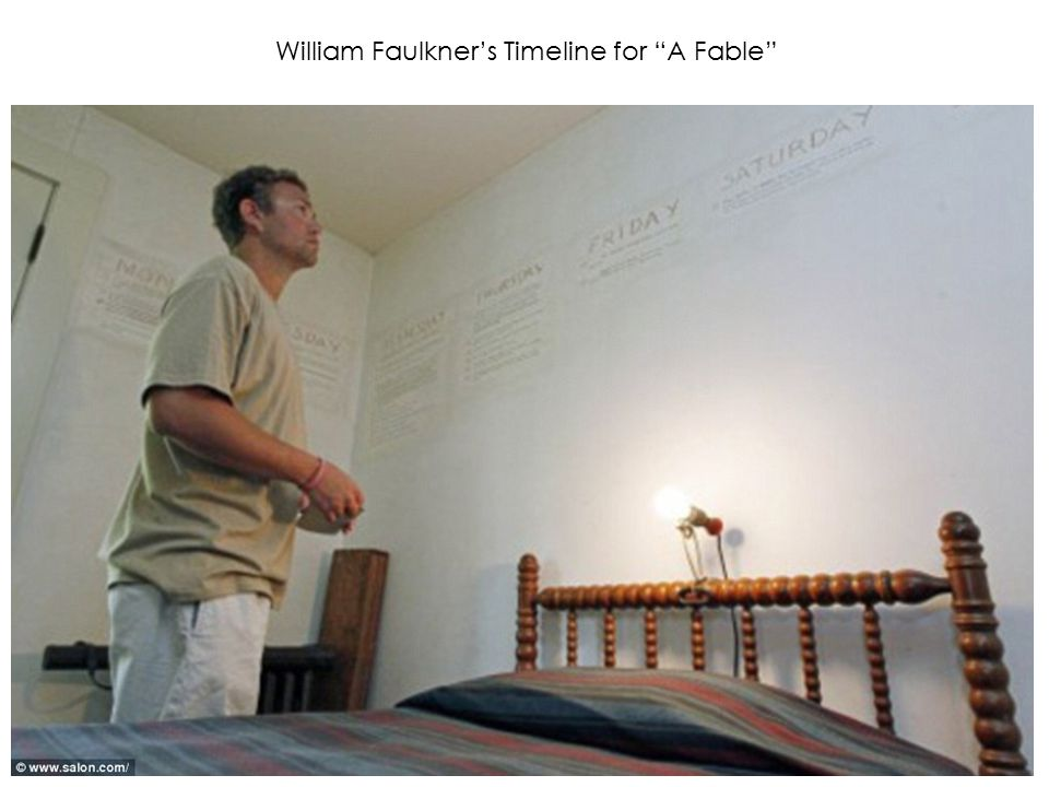William Faulkner's Timeline for A Fable