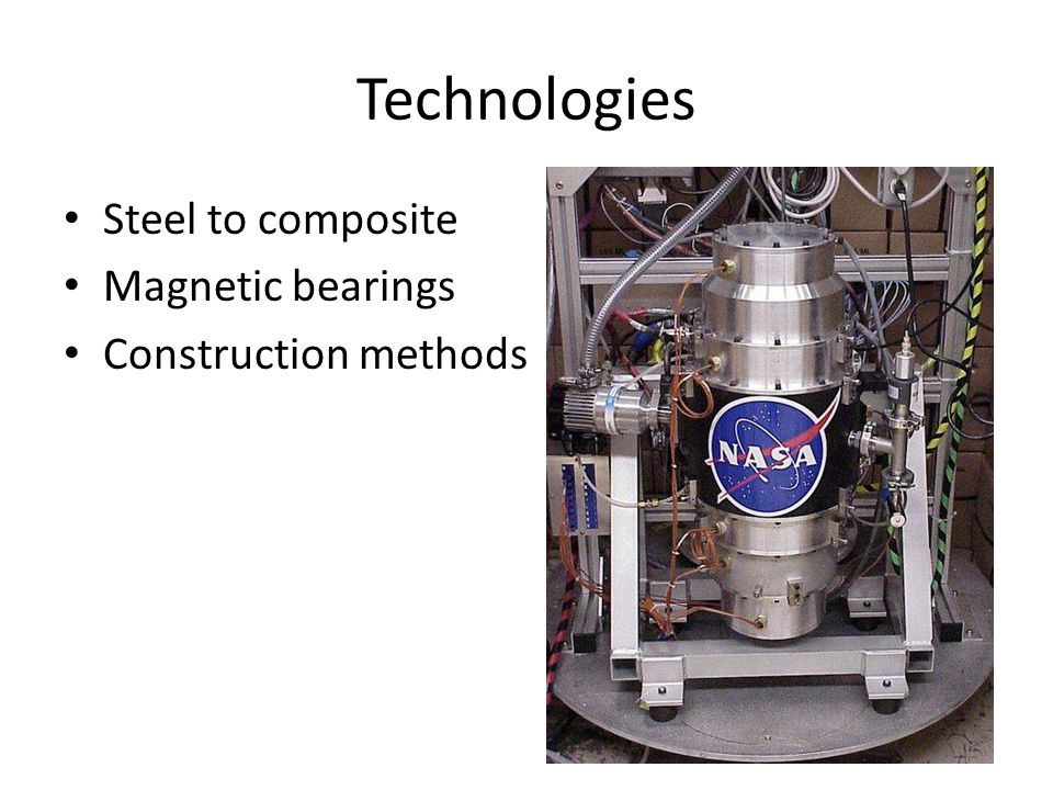 Technologies Steel to composite Magnetic bearings Construction methods