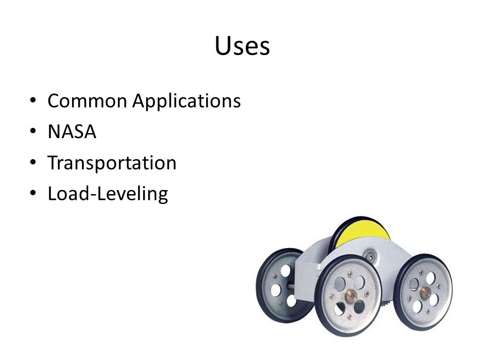 Uses Common Applications NASA Transportation Load-Leveling