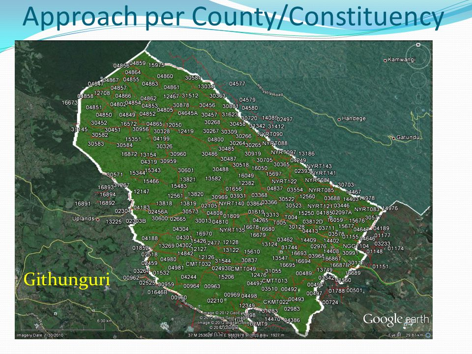 Approach per County/Constituency Githunguri