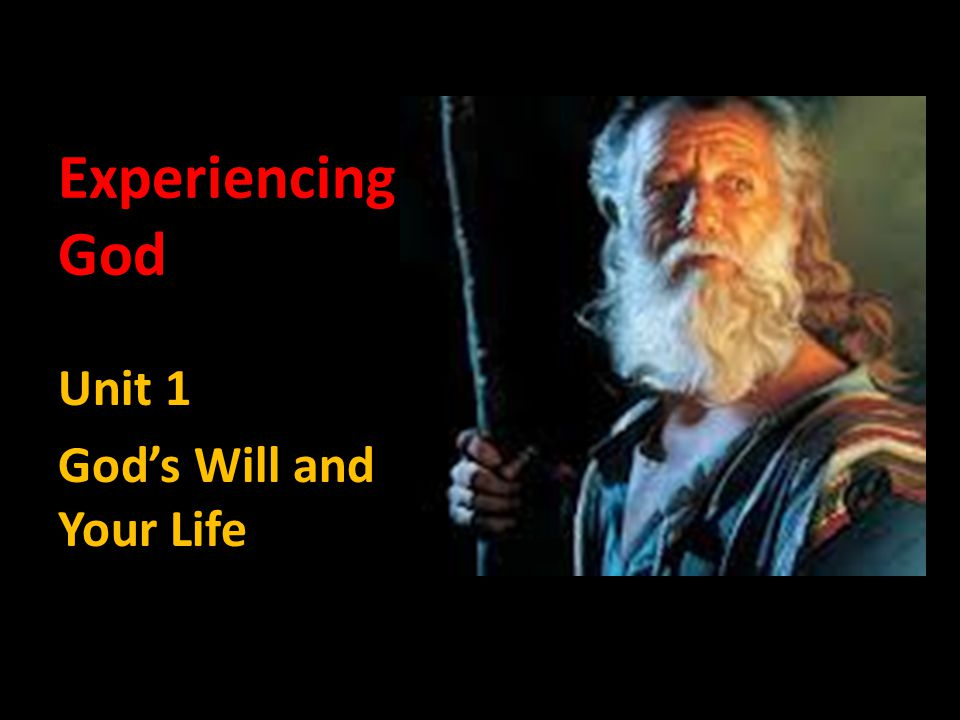 Too many ask, What is God s will for my life? The real question is, What is God s will?