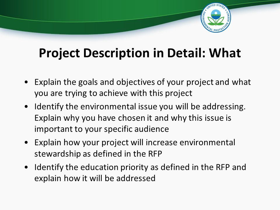 Project Description in Detail: What Explain the goals and objectives of your project and what you are trying to achieve with this project Identify the