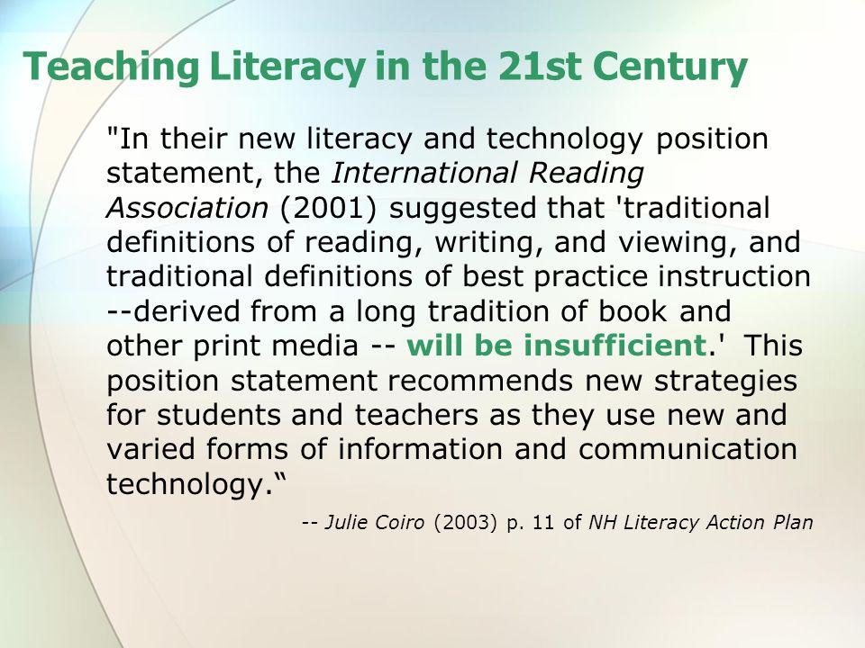 Teaching Literacy in the 21st Century