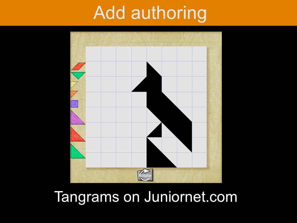 Add authoring Tangrams on Juniornet.com