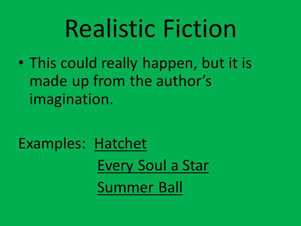 Historical Fiction The story has historical events, characters, incidents, or time periods.
