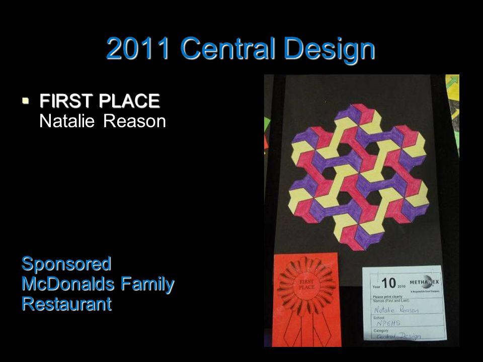 2011 Central Design  FIRST PLACE Natalie ReasonSponsored McDonalds Family Restaurant