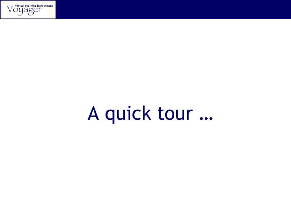 A quick tour …