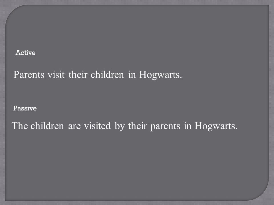 Parents visit their children in Hogwarts.