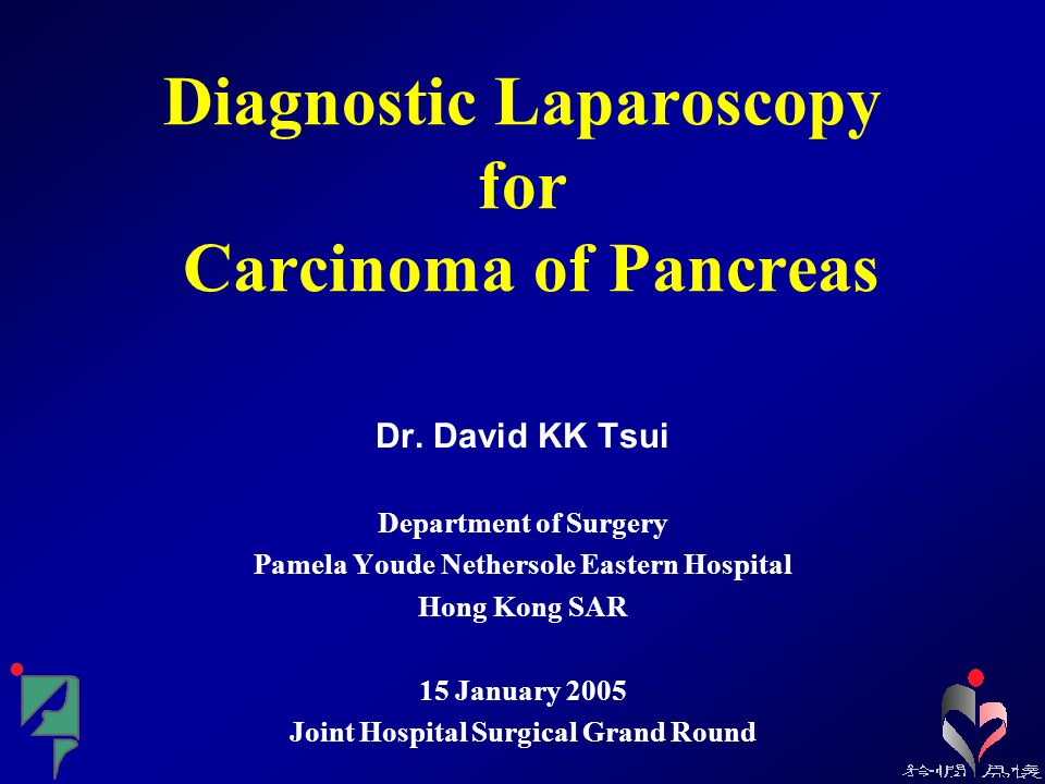 Diagnostic Laparoscopy for Carcinoma of Pancreas Dr.