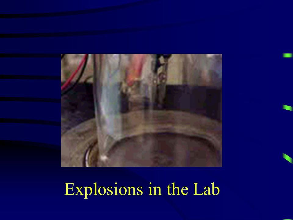 Explosions in the Lab