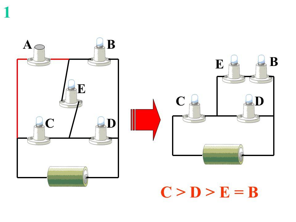 D B C E DC E BA C > D > E = B 1