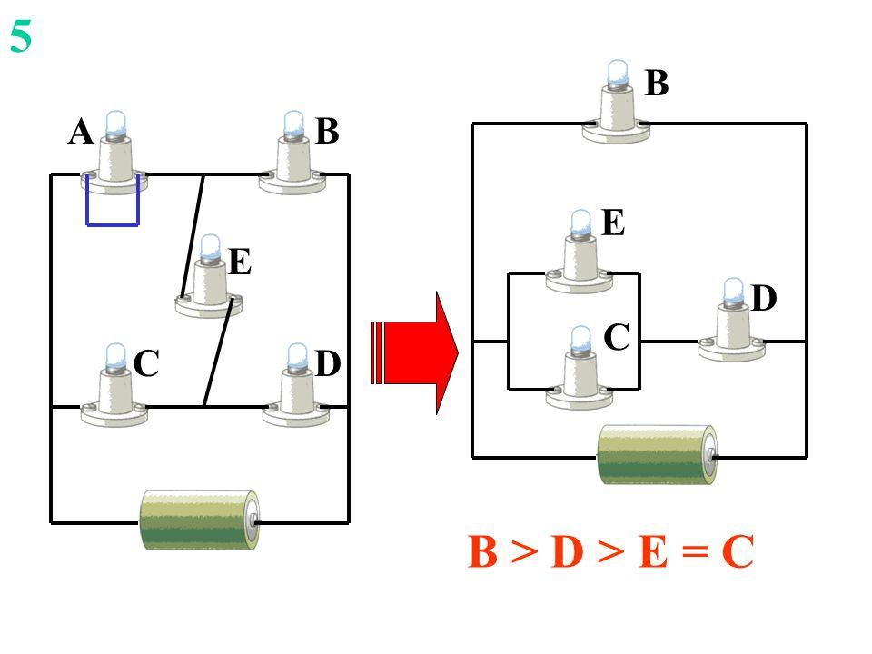 DC E AB D B C E 5 B > D > E = C